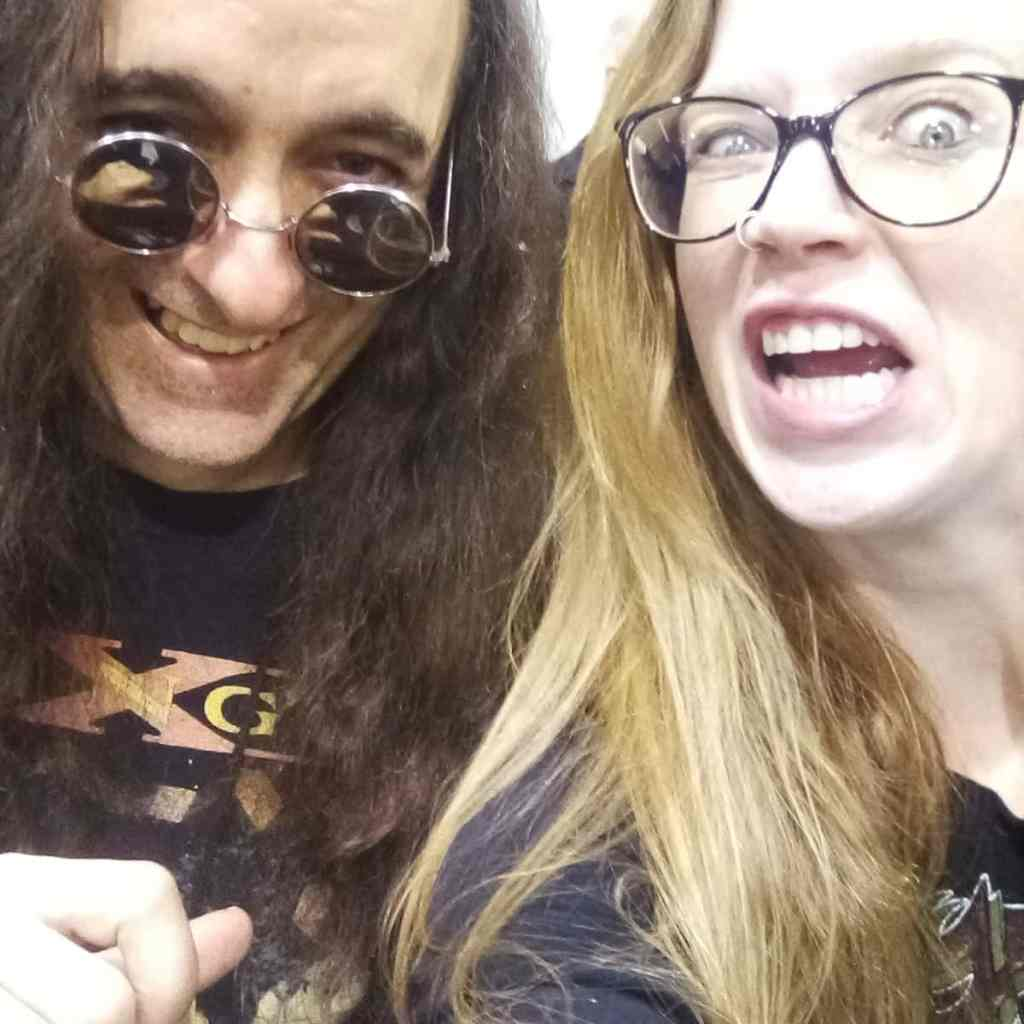 Courtney Cox (Iron Maidens) loves NAMM...can you tell?